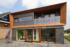 trespa dom jednorodzinny fasada