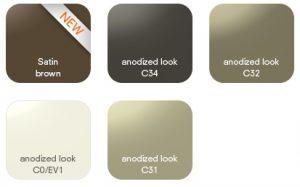 wzornik kolorów Alucobond anodized