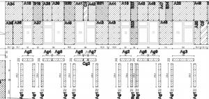 projekt elewacja wentylowana rozrysowanie podziału płyt elewacyjnych na fasadzie